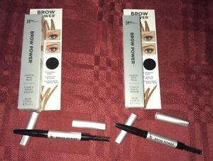 2X It Cosmetics Brow Power Universal Brow Pencil Taupe Spoolie 0.0018oz Travel