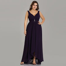 Ever-Pretty Long Beaded V-neck Bridesmaid Dress Homecoming Ball Prom Gowns 09983 Dark Purple 18