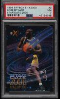 1996 Skybox E-X2000 Star Date 2000 Kobe Bryant ROOKIE RC #3 PSA 7 NRMT