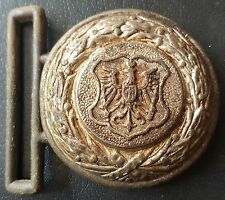 ✚7531✚ German post WW1 Lower Silesia Fire Defence Officer's belt buckle eagle