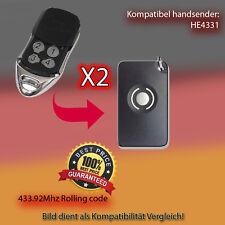 2X Handsender 433.92 MHz für HE4331 Antriebe