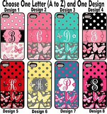 Butterfly Polka dots Grp1 Personalized Monogram Phone Case Cover For iPhone 5 5s