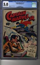 Captain Marvel Jr (1942) # 7 - CGC 5.0 OW/WHITE Pages - First appear Volt Meter