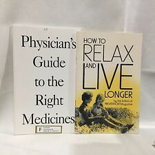 2 PC Lot How to Relax and Live Longer Guide to Medicines PB Free Ship Lot 3