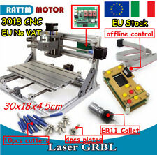 【ITA】DIY 3018 USB CNC PCB Wood Milling Engraving Laser Machine&Hand Control&ER11