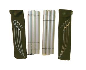Genuine army surplus poles & pegs set of 2 lavvu tent olive or black poles