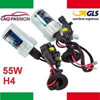 Coppia lampade bulbi kit XENO xenon H4 55w 5000k 12v lampadina luce HID ricambio