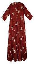 1x/2x/3x Indian Burgnd Rayon Dress  Blusa Gypsy Ethnic Women Blouse Retro Hippie