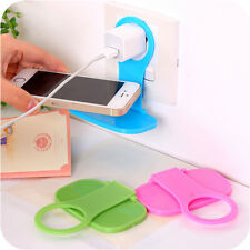 Fine!! Fashion Linked Wall Charging Rack Holder Colorful For Cell Phone Charger