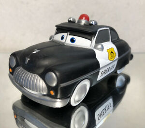 "DISNEY PARKS CARS 2 POOL & BATH PLASTIC TOY: ""SHERIFF""/ LOOSE/ PRE OWNED"