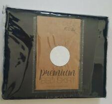 Home Spun Premium Queen Black Bed Skirt - NEW
