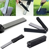 Double Sided Folding Sharpening Stone Diamond Knife Sharpener for Kitchen/Travel