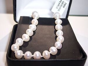 SINGLE ROW CLASSIC 14K PEARL BRACELET - ESTATE CLEARANCE CLOSEOUT SALE BUY NOW