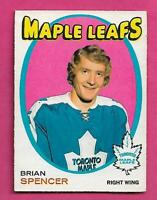 1971-72 OPC # 198 LEAFS BRIAN SPENCER ROOKIE EX-MT CARD  (INV# D0303)
