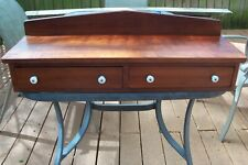 ANTIQUE Fruitwood Cherry? Dresser Top STEP BACK Chest GLOVE BOX DRAWERS Salvage