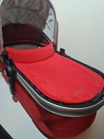 JOOLZ Day 2 Carry Cot Carrycot Mattress Hood & Apron Red. Very Good Condition