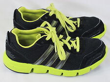 Adidas Breeze XJ Running Shoes Kids Size 3 US Near Mint Condition Black