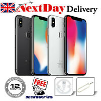 Apple iPhone X (iPhone 10) 64GB 256GB Silver Space Grey Unlocked Smartphone UK
