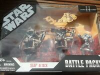 "3.75"" Star Wars Battle Packs Stap Attack battle DROIDS  30TH ANNIVERSARY 2007"