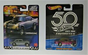 hot wheels 55 Chevy  Gasser's  both are error cars  HTF Super  Chase ........