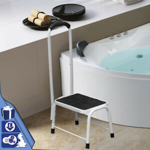 Slip-Resistant Safety Step Stool Bath Kitchen Aid Handrail Mobility Platform Sup