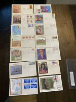 Lot of 15 Colorano Silk Cachet First Day Covers Mystic Stamp Company A002