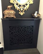 Black Painted Radiator Cabinet/Cover - Classic Baroque - Shaker Slatted