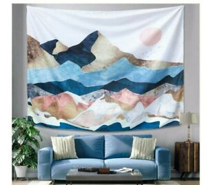 Sunset Mountain Tapestry Art Wall Hanging Nature Landscape Home Room Decoration