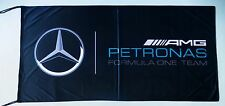 MERCEDES AMG PETRONAS FLAG FORMULA 1 BLACK - SIZE 150x75cm (5x2.5ft) - BRAND NEW