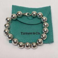 Tiffany & Co. Sterling Silver Beaded Bracelet 7'' 10mm