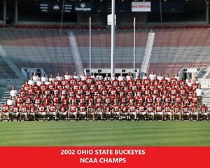 2002 OHIO STATE 8X10 TEAM PHOTO BUCKEYES PICTURE NCAA FOOTBALL NATIONAL CHAMPS