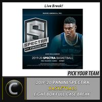 2019-20 PANINI SPECTRA BASKETBALL 8 BOX (FULL CASE) BREAK #B464 - PICK YOUR TEAM