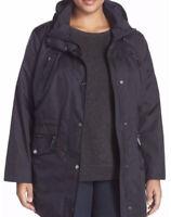 MICHAEL Michael Kors Size 2X Plus Full Zip Anorak Utility Jacket In Navy Blue