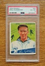 1934 Goudey PSA 4 VG-EX #38 Oral Hildebrand Rookie Card Cleveland Indians