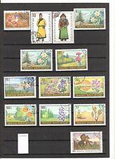 N°593 A à E - Mongolie ( 1969-72 ) - Lot de 59 timbres oblitérés