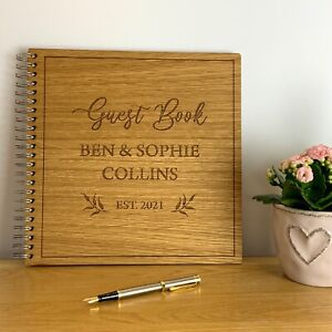 Personalised Wedding Day Guest Book Album Gift Present Bride Groom Couple