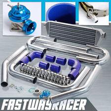 Universal Blue 2.5'' Aluminum FMIC Intercooler Piping Kit + Type-RS Turbo Bov