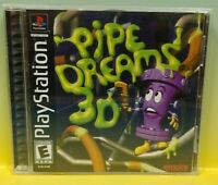 Pipe Dreams 3D  Playstation 1 2 PS1 PS2 Game Tested Working 1 Owner Complete