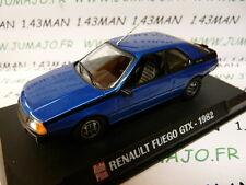 voiture 1/43 AUTOPLUS IXO : RENAULT Fuego GTX 1982 bleu