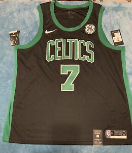 NBA Authentic Jaylen Brown Boston Celtics Swingman Black Jersey Size 56 XXL Nike