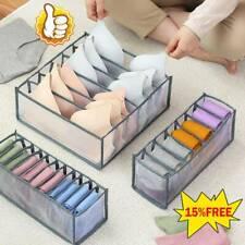 3pc ropa interior de armario cajón divisor calcetines organizador caja de almacenamiento de contenedores de sujetador