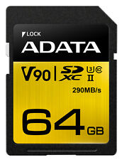 64GB AData Premier ONE SDXC UHS-II U3 290MB/s Class 10 Memory Card