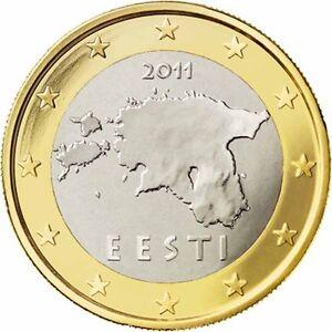 ESTONIA - 1 € Euro circulation coin  2011 UNCIRCULATED