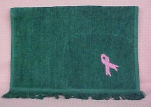 Breast Cancer Pink Ribbon Golf Towel Fringed Hunter Green Cobra Unisex New