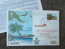 ESCAPE From NEW BRITAIN 1977  Hand Signed  RAF Escaping Society FDC - SEE PICS