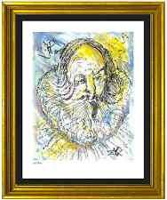 """Salvador Dali Signed & Hand-Numbered Ltd Ed """"Cervantes """" Litho Print (unframed)"""