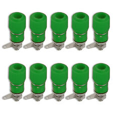 Binding Post Terminal Speaker Amplifier Test Plug Socket Connector Green x 10