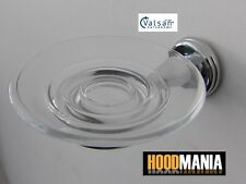 VALSAN Victoria Polished Chrome Glass Soap Dish Wall Mounted 67085CR