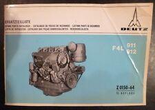 DEUTZ Moteurs F 4 L 911 + F 4 L 912 pièce de rechange liste