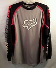 FOX RACING heavier knit long sleeve shirt top mesh pits sleeve logos Mens LARGE